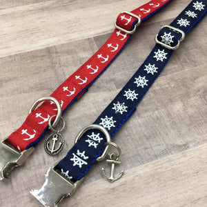 Nautical Handmade Dog Collar