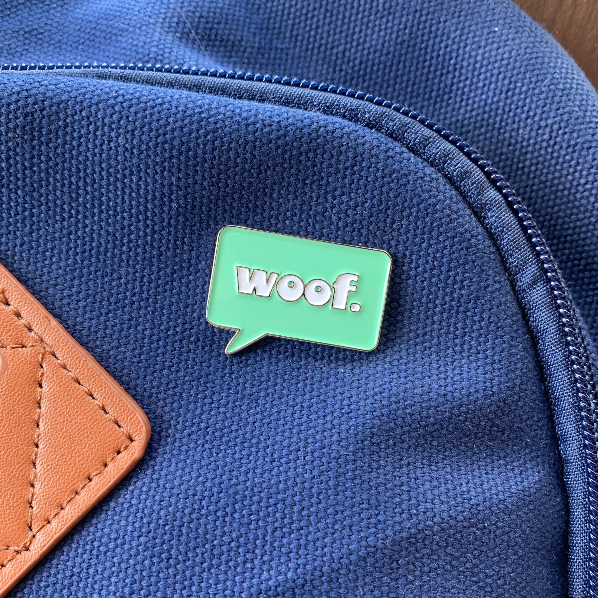 "Retro ""Woof"" Pin"
