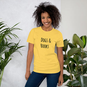 """DOGS & BOOKS"" Short-Sleeve Unisex T-Shirt"