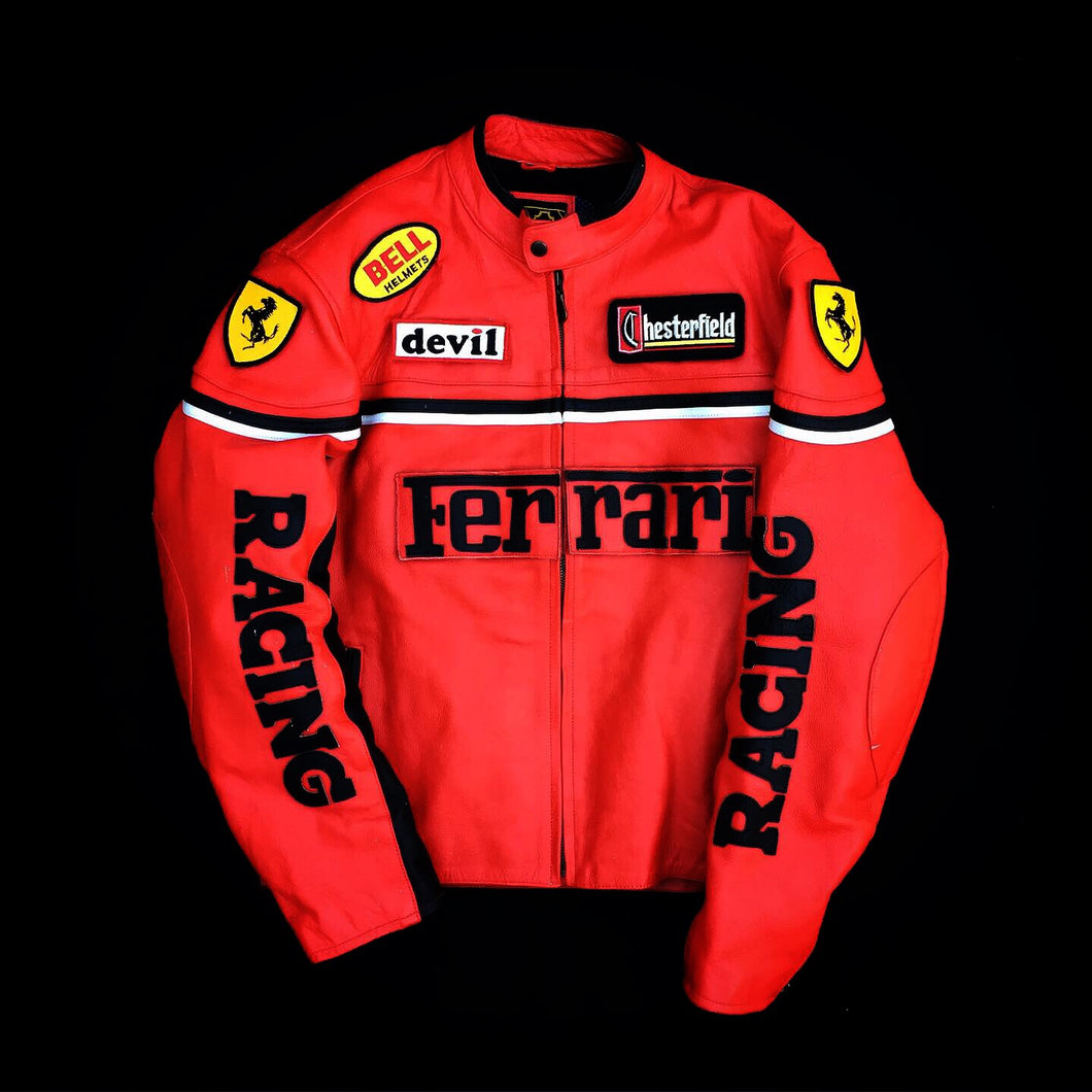 Ferrari leather racing jacket (M)