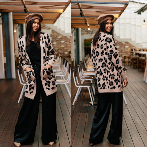 Jaase Leopard Cardigan at Coltish