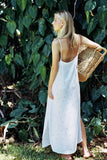 Delilah Maxi Dress in White Arrow