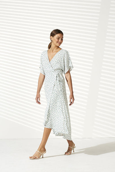 Whisper Wrap Midi Dress