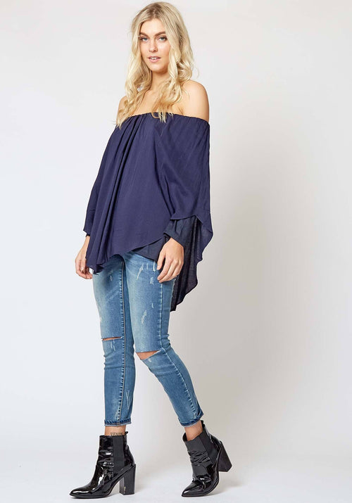 Minstrel Top in Navy
