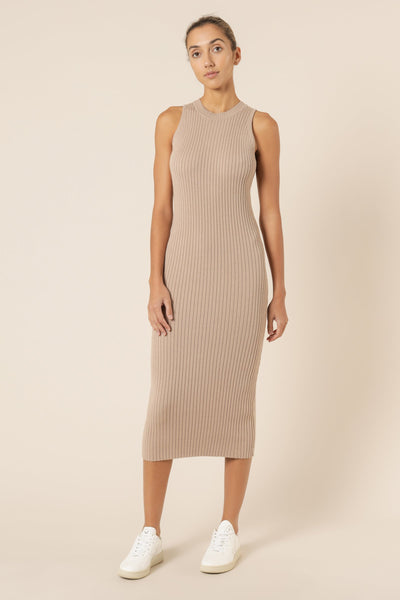 Celia Knit Dress - Mocha