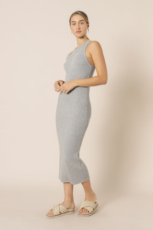 Celia Knit Dress - Grey Marle