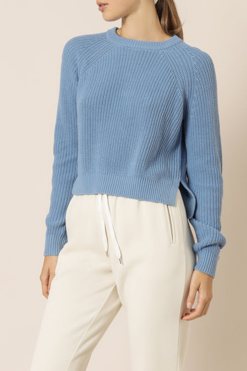 Kallie Knit Jumper - Denim Blue
