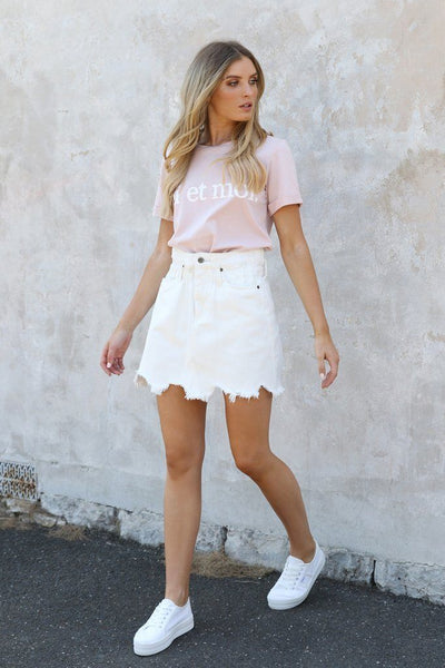 Margot Bucket Skirt - White