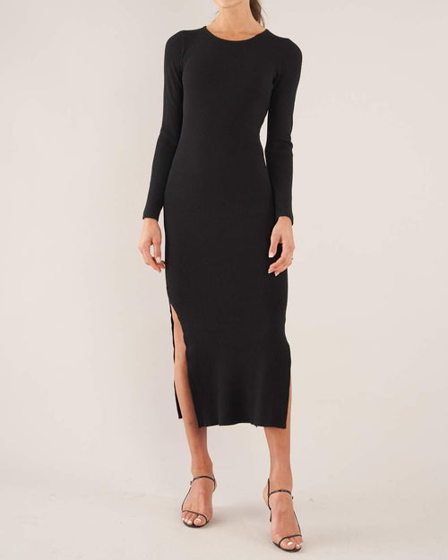 Afina Knit Dress - Black