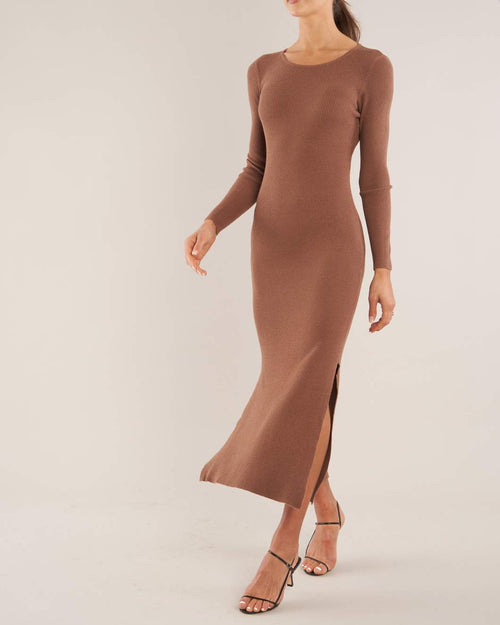 Afina Knit Dress - Cocoa