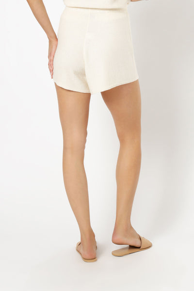 Coops Knitted Shorts - Cream