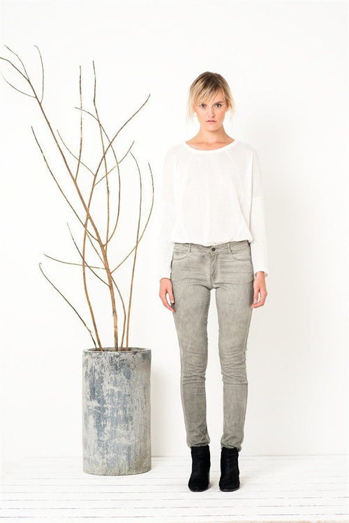 Love On The Run Skinnies in Washed Silver