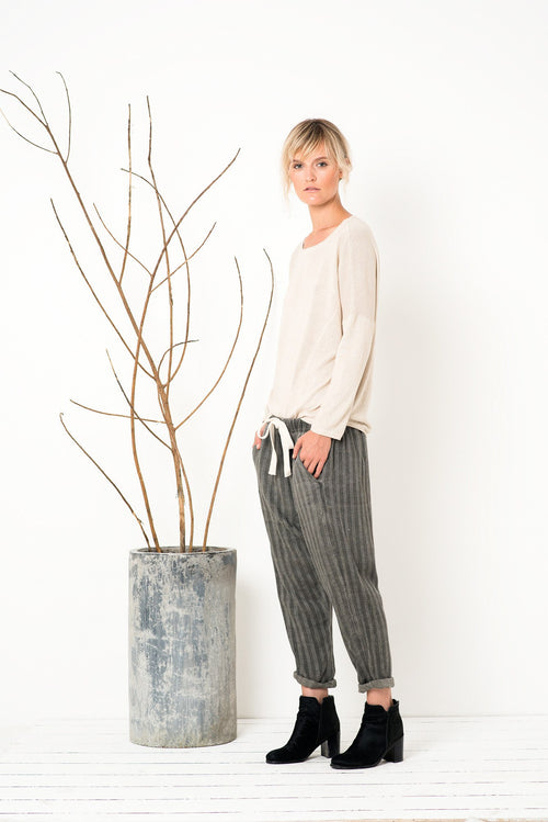 Mad World Pants in Washed Silver