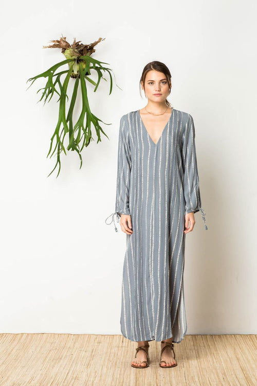 Out Of Eden Kaftan in Straight Shooter Slate Blue