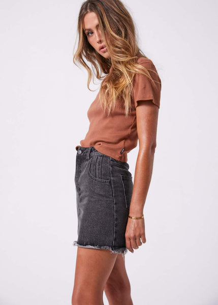 Denny Raw Denim Skirt