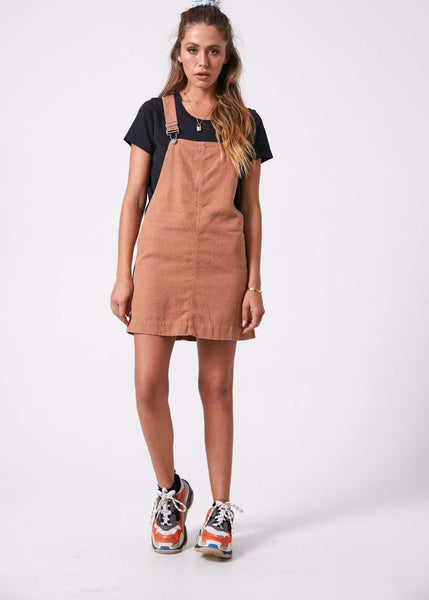 Mae Hemp Overall Dress - Clay