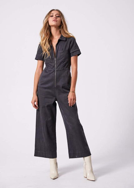 Cora Hemp Boilersuit - Raven