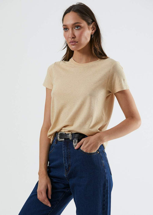 Hemp Basics Standard Fit Tee - Beige