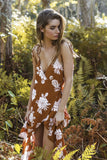 Andalusia Dress in Terracotta Floral