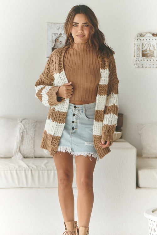 Clove Knit - Biscuit Stripe