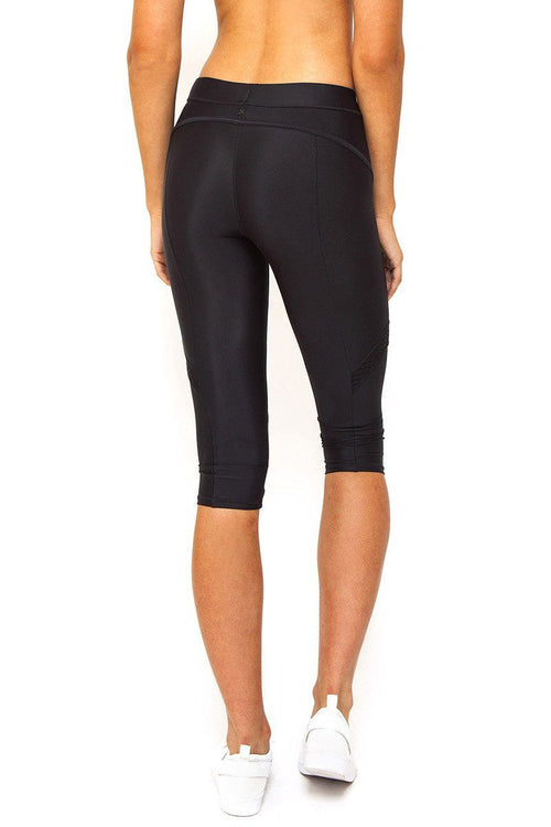 Cropped Sports Legging in Black