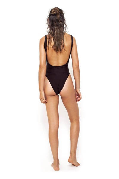 Eyelet One Piece in Black