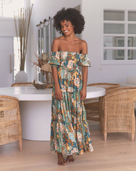 Claudette Maxi Dress - Enchanted Forest