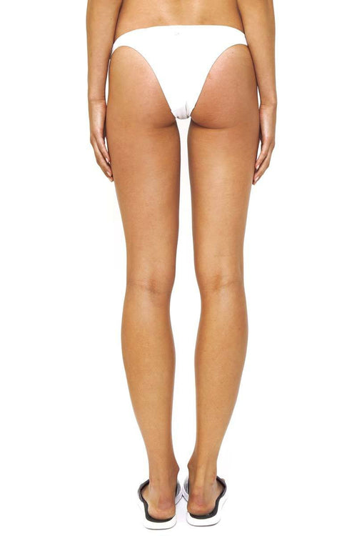Tamarama High Cut Swim Bottom / White