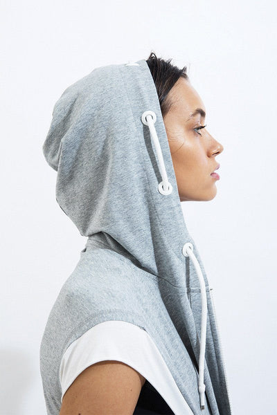 Lace Up Terry Hoodie