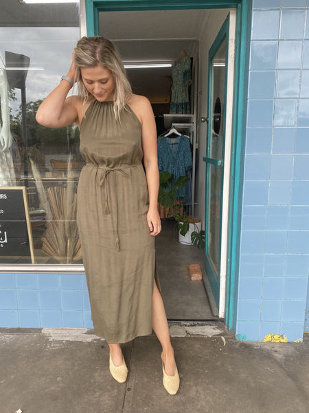 Callie Maxi Dress - Khaki
