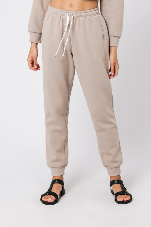 Carter Classic Trackpant - Taupe
