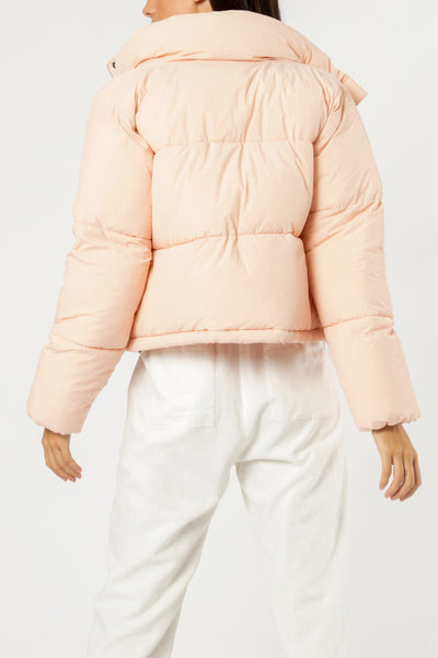 Topher Puffer Jacket - Mineral Pink