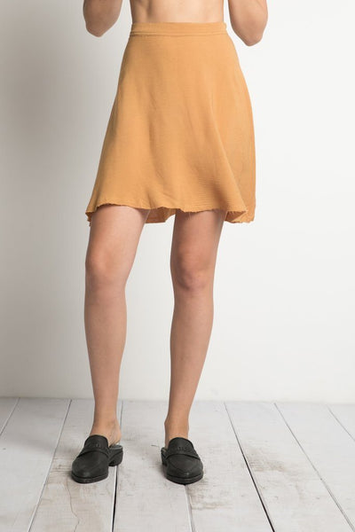 Annie Mini Skirt in Caramel