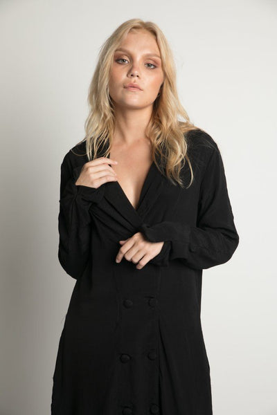 Henderson Blazer Dress in Black