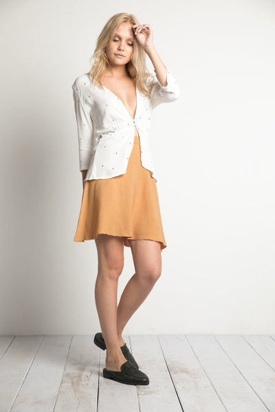 Dolly Blouse in White Arrow