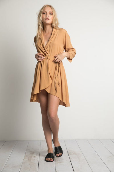 The Maverick Dress in Caramel