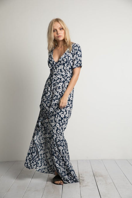 Doulton Blues Print Lake Dress