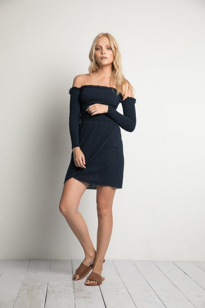 River Mini Dress in Navy