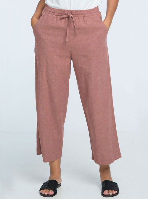 Jasmeen 7/8 Pants - Raspberry