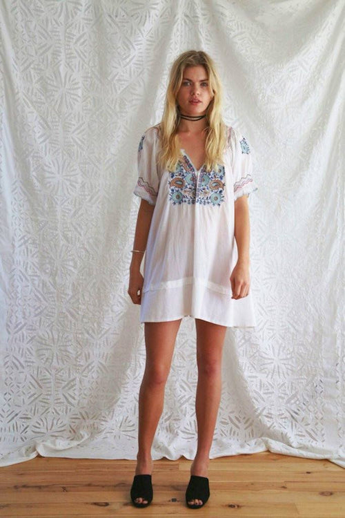 Ash Embroidered Dress