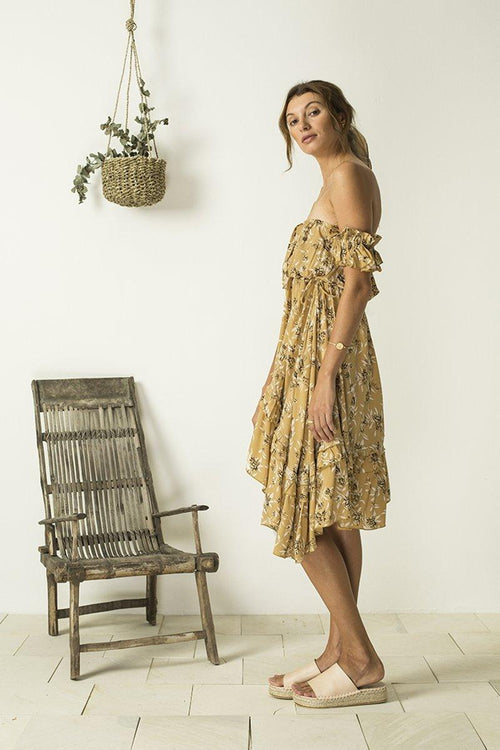 Lucette Dress - Cottage Garden Amber