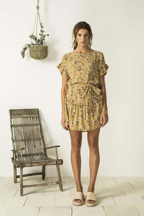 Marie Dress - Cottage Garden Amber