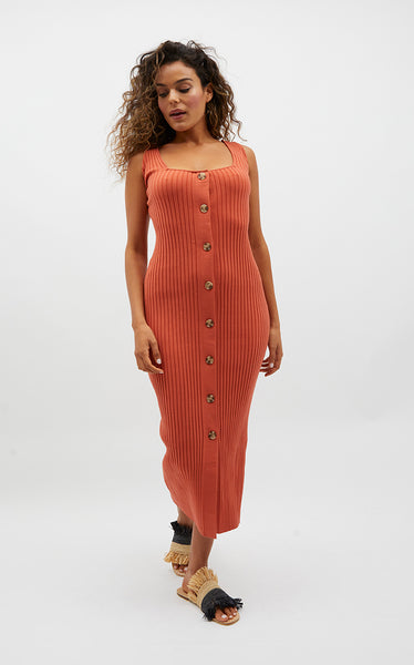 Milley Ribbed Midi Dress