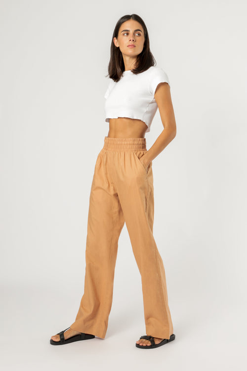 Amber Linen Pant - Clay