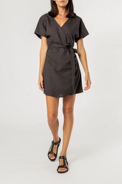 Monica Wrap Dress - Coal