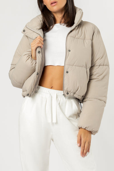 Topher Puffer Jacket - Taupe