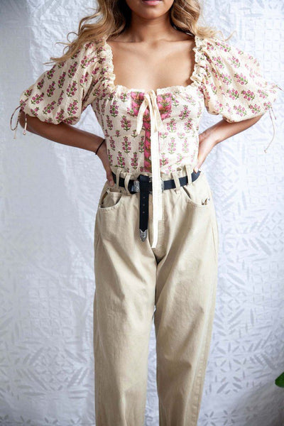 Pansies Milk Blouse