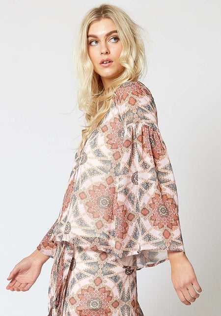 Iman Surplice Top
