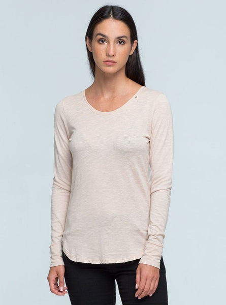 Rika Long Sleeve Top - Rose