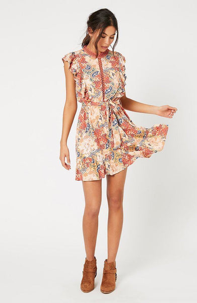 Patchwork Paisley Mini Dress